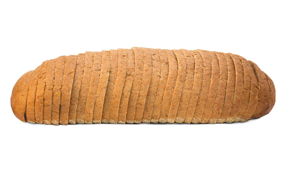 European rye loaf, sliced