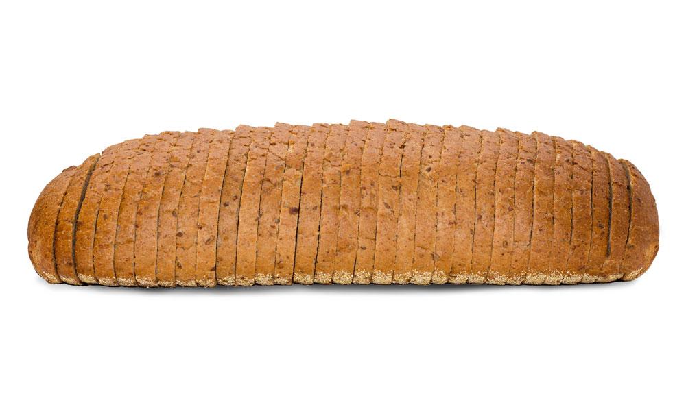 Multigrain rye loaf sliced