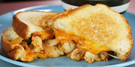 shrimp grilled cheese, Food Network
