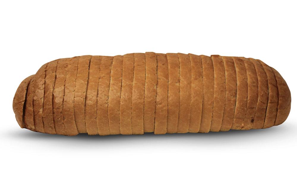 French loaf sliced
