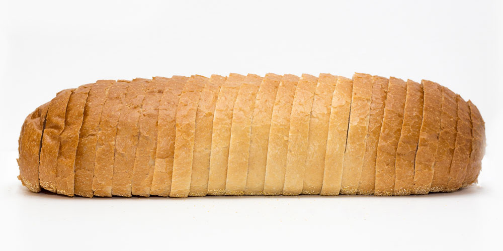 French loaf sliced