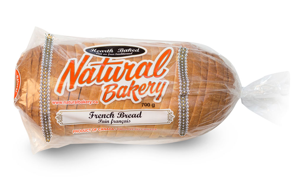 French loaf sliced and bagged